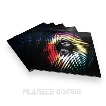 10 LP platenhoezen  raster dots met venster