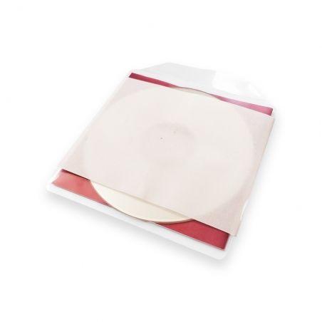 10 Hoezen CD & booklet PP met insteekbare klep klevende achterzijde